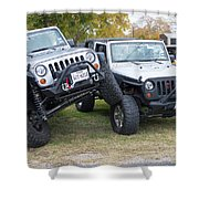 Jeeps In Juxtaposition Shower Curtain