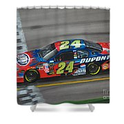 Jeff Gordon Dupont Chevrolet Shower Curtain