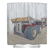 Jeff Watchell's #2 The Business End Shower Curtain