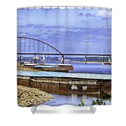 Jefferson Barracks Bridge A View From Cliff Cave Shower Curtain