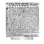 Jefferson: Embargo, 1779 Shower Curtain by Granger