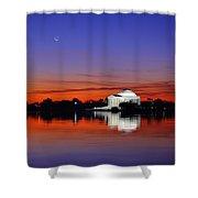 Jefferson Memorial At Dawn Shower Curtain