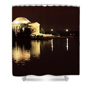 Jefferson Memorial From Across The Tidal Pool Shower Curtain