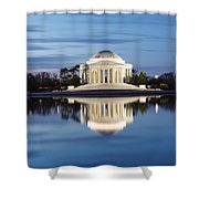 Washington Dc Jefferson Memorial In Blue Hour Shower Curtain