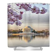 Jefferson Memorial In The Early Morning Shower Curtain