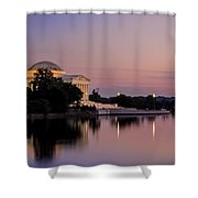 Jefferson Memorial Sunset Shower Curtain