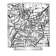 Jefferson: States, 1784 Shower Curtain