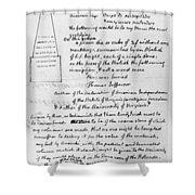 Jefferson: Tombstone Shower Curtain