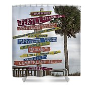 Jekyll Island Where To Go Shower Curtain