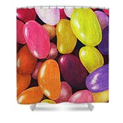 Jelly Beans Shower Curtain by Anastasiya Malakhova