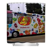 Jelly Belly On Wheels Shower Curtain