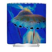 Jellyfish 2 Digital Artwork Shower Curtain