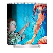 Jellyfish Boy Shower Curtain