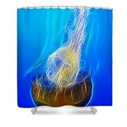 Jellyfish Fractal Shower Curtain