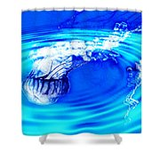 Jellyfish Pool Shower Curtain