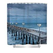 Jennette's Fishing Pier Shower Curtain