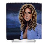 Jennifer Aniston Painting Shower Curtain