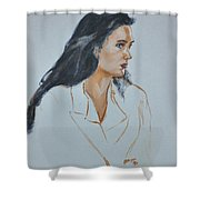 Jennifer Connelly Shower Curtain