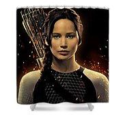 Jennifer Lawrence As Katniss Everdeen Shower Curtain