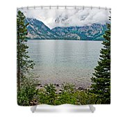 Jenny Lake In Grand Tetons National Park-wyoming  Shower Curtain