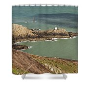 Jerbourg Point On Guernsey - 3 Shower Curtain