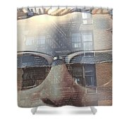 Jeremy In Shades Shower Curtain