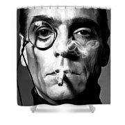Jeremy Irons Portrait Shower Curtain