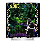 Jerry At Psychedelic Creek Shower Curtain
