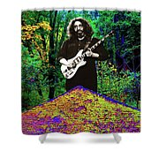Jerry At The Cosmic Pyramid In The Woods  Shower Curtain