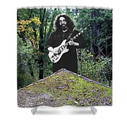 Jerry At The Pyramid In The Woods Shower Curtain