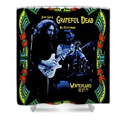 J G And B K At Winterland In 1977 Shower Curtain