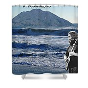 Jerry Garcia At Mt Tamalpaisland 2 Shower Curtain