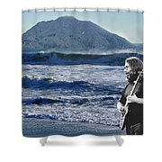 Jerry Garcia At Mt Tamalpaisland 3 Shower Curtain