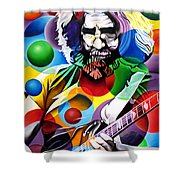 Jerry Garcia In Bubbles Shower Curtain