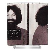 Jerry Garcia Mugshot Shower Curtain