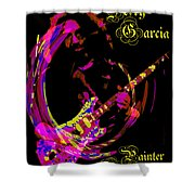 Jerry Garcia Painter Of Masterpieces Shower Curtain