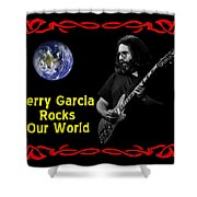 J G  Rocks Our World Shower Curtain