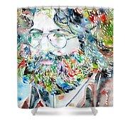 Jerry Garcia Watercolor Portrait.2 Shower Curtain