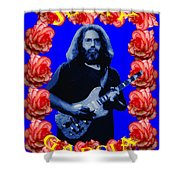 Jerry In Blue With Rose Frame Shower Curtain