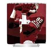 Jerry Rice Poster Art Shower Curtain