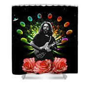 Jerry Spacepods Ufo Roses 1 Shower Curtain