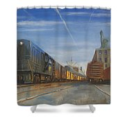 Jersey Central Lines Shower Curtain