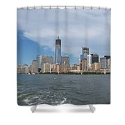 Jersey City And Hudson River Shower Curtain