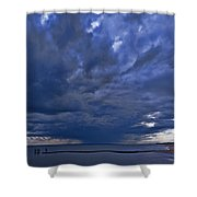 Jersey Downpour Shower Curtain