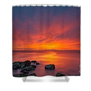 Jersey Shores Fire In The Sky Version 2 Shower Curtain
