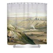 Jerusalem April 5th 1839 Shower Curtain by David Roberts