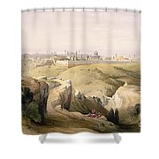 Jerusalem From The Mount Of Olives Shower Curtain by David Roberts