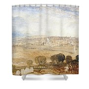 Jerusalem From The Mount Of Olives Shower Curtain by Joseph Mallord William Turner