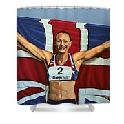 Jessica Ennis Shower Curtain