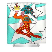 Jester With Cake Shower Curtain